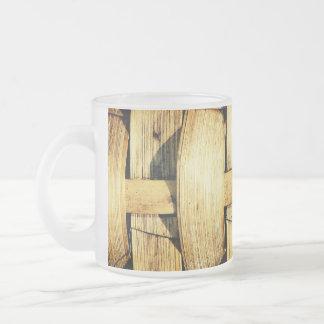 Woven Bamboo Strips - Tiki Torch Mugs