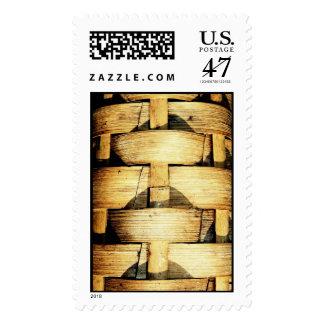 Woven Bamboo Strips - Tiki Torch Postage