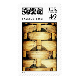 Woven Bamboo Strips - Tiki Torch Postage Stamps