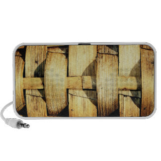 Woven Bamboo Strips - Tiki Torch iPhone Speaker