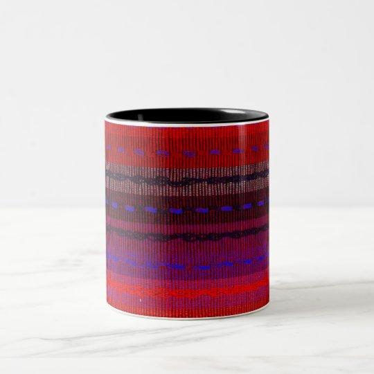 Woven Bands Two-Tone Coffee Mug