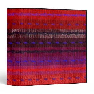 Woven Bands Vinyl Binder