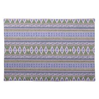 woven borders,blue place mat