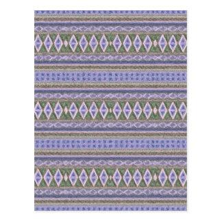 woven borders,blue post card