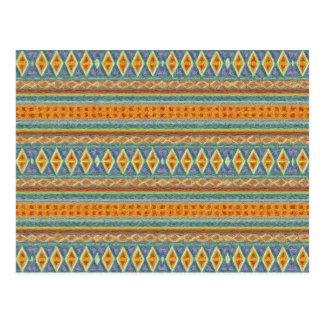 woven borders,orange postcard