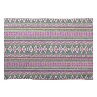woven borders,pink place mat