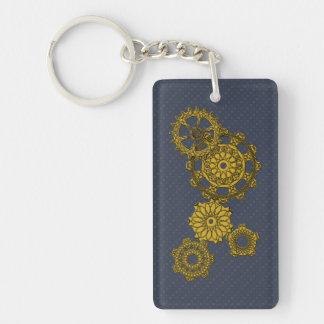 Woven Clockwork Acrylic Keychain