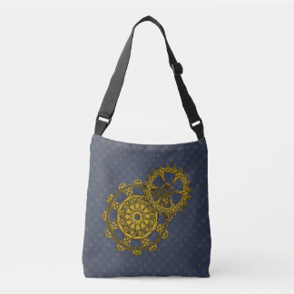 Woven Clockwork All-Over-Print Bag