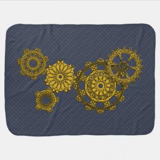 Woven Clockwork Baby Blanket