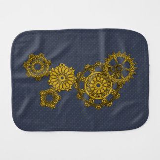 Woven Clockwork Burp Cloth