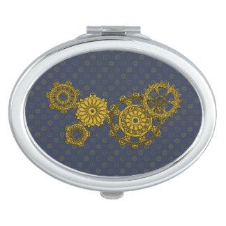 Woven Clockwork Compact Mirror