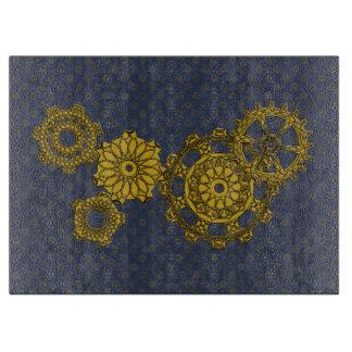 Woven Clockwork Glass Cutting Board