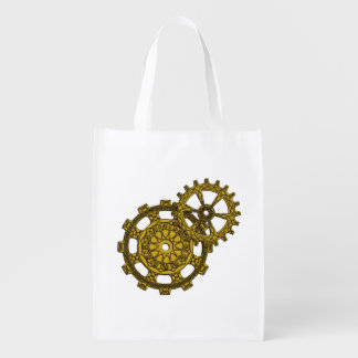 Woven Clockwork Reusable Grocery Bag