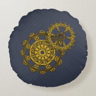 Woven Clockwork Round Pillow