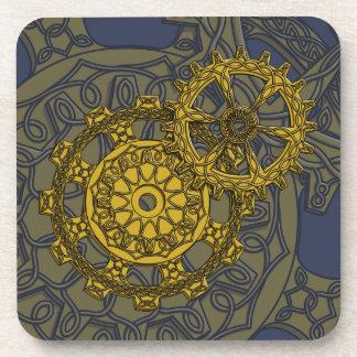 Woven Clockwork Square Coaster
