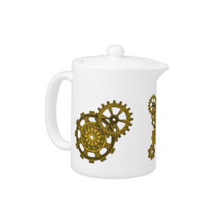 Woven Clockwork Tea Pot
