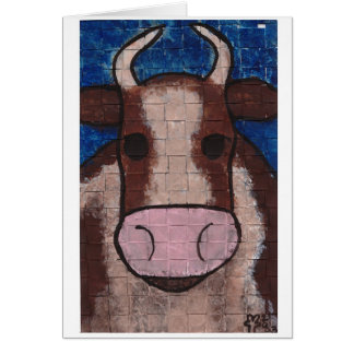 Woven Cow Greeting Cards