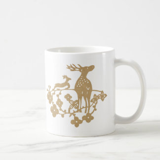 Woven Deer Coffee Mug