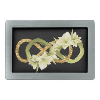 Woven Double Infinity Cowlilies & Gold - Buckle Belt Buckle