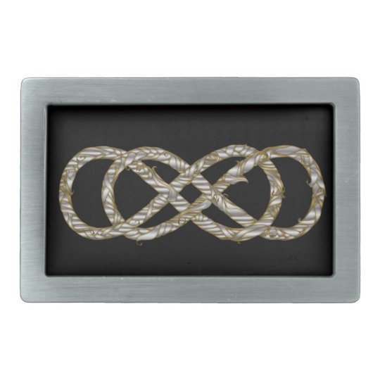 Woven Double Infinity Silver & Gold - Buckle Belt Buckle