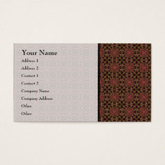 Woven effect Brown and Red X Repeating Pattern Business Card