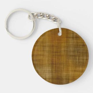 Woven Fabric Pattern Single-Sided Round Acrylic Keychain