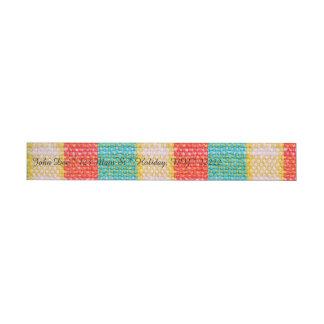 Woven Fabric Print Wrap Around Address Label