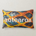 Woven flax lumber pillow, from Aotearoa, NZ