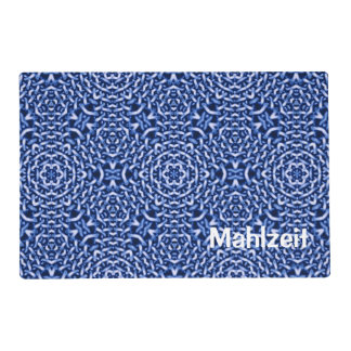 woven from chains blue (I) Laminated Place Mat