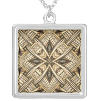 Woven Gold Cross Pendant