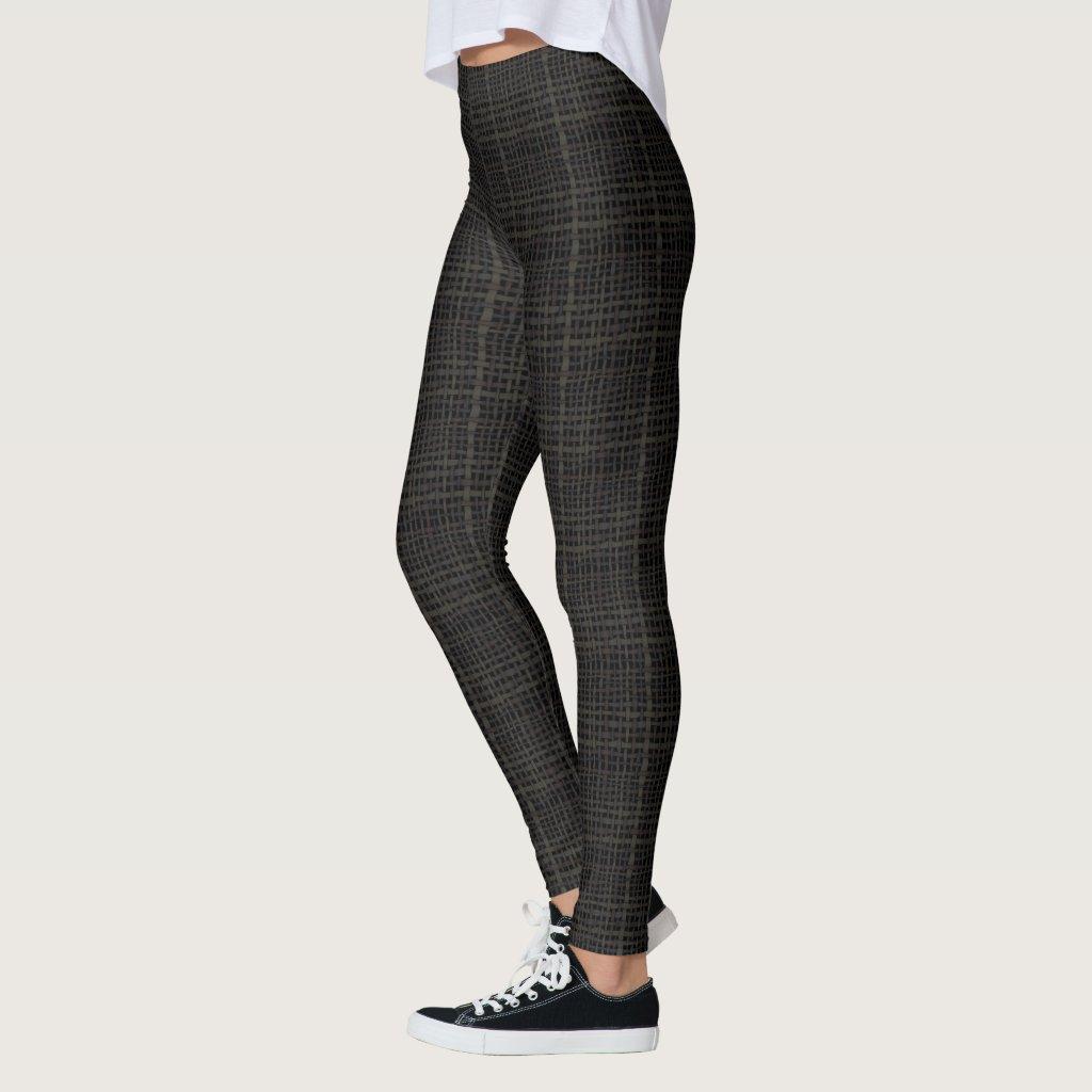 Woven Graphical Burlap Black