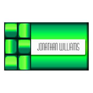 Woven Green Modern Business Card
