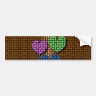 Woven Hearts Bumper Sticker