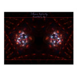 Woven Infinity fractal art postcard
