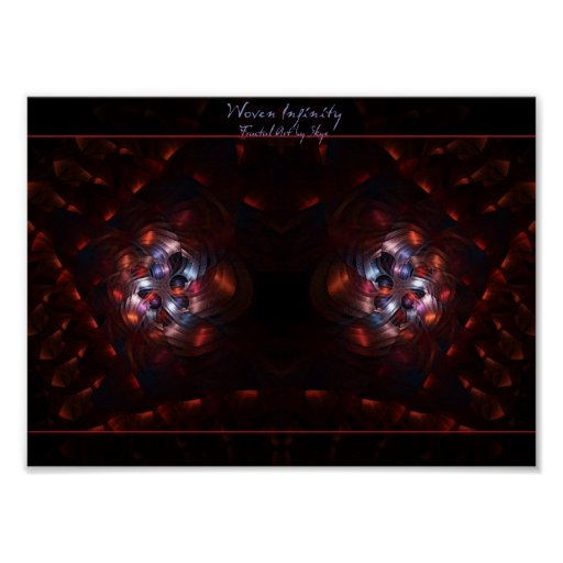 Woven Infinity fractal art poster