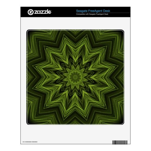 woven jungle leaves Kaleidoscope Decal For FreeAgent Desk