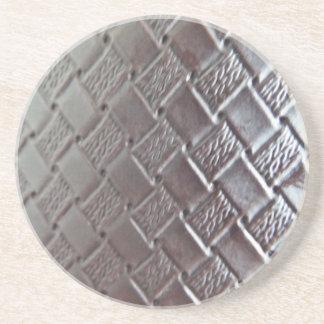 Woven Leather Sandstone Coaster