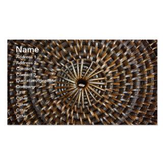 Woven Mat Business Card