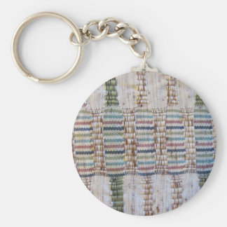 Woven material keychain