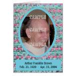 Woven Memories Memorial card #2
