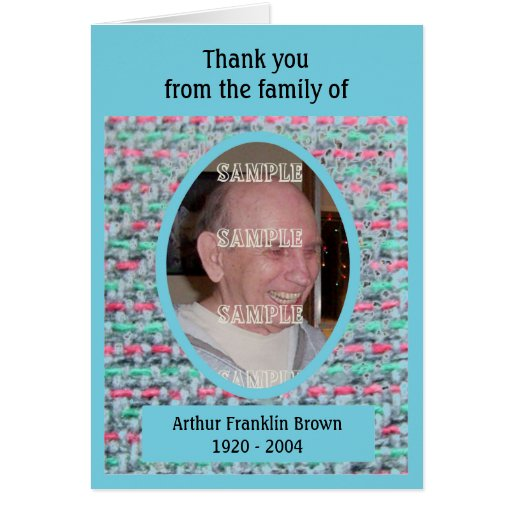 Woven Memories Sympathy Thank You cards #2