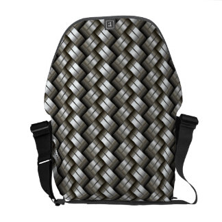 Woven metal pattern courier bag
