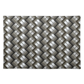 Woven metal pattern placemats
