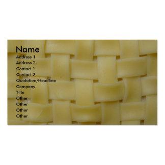 Woven Noodles Business Card