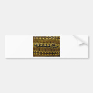 Woven NW Coast Indian Fiber Art Bumper Sticker
