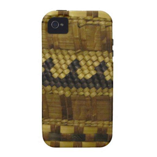 Woven NW Coast Indian Fiber Art iPhone 4/4S Cases
