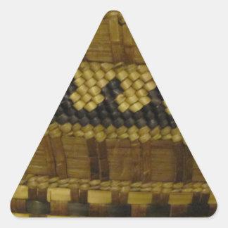 Woven NW Coast Indian Fiber Art Triangle Sticker