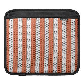woven orange and white iPad sleeves