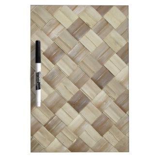 Woven Palm Matting Dry-Erase Whiteboard