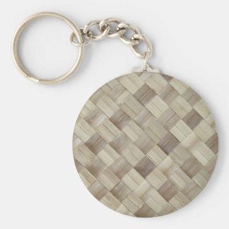 Woven Palm Matting Keychains